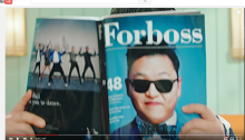 fake forbes magazine cover with musician