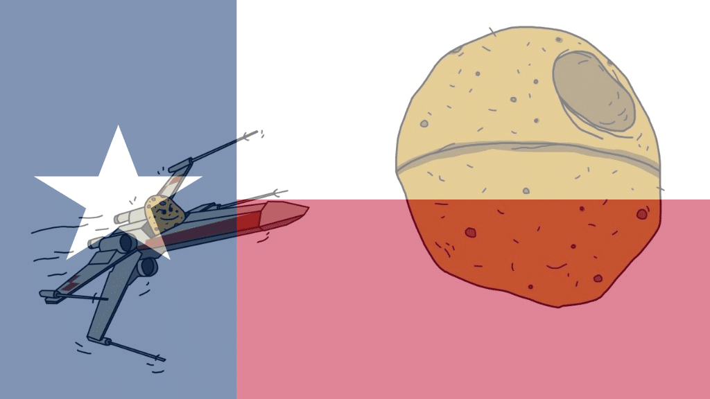 potato star wars rebel texas flag