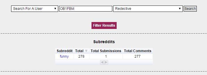 redective reddit user search screenshot