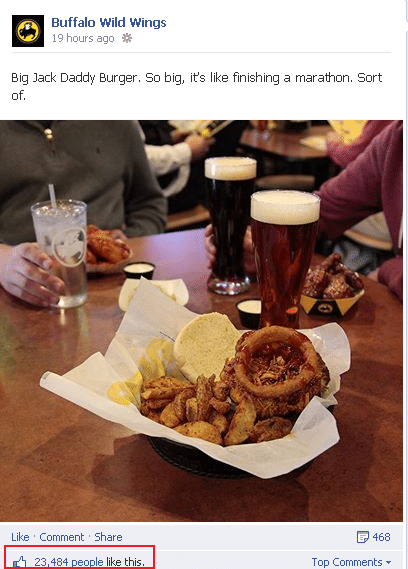 buffalo wild wings facebook post