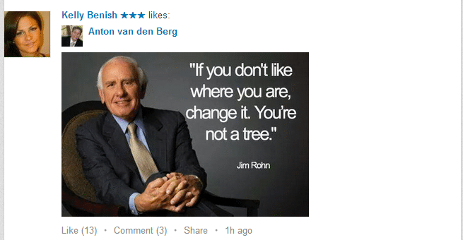 example of inspirational quote on linkedin