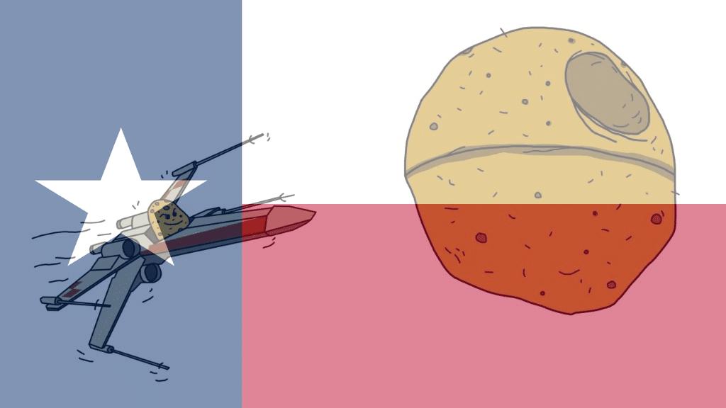 potato star wars rebel texas flag