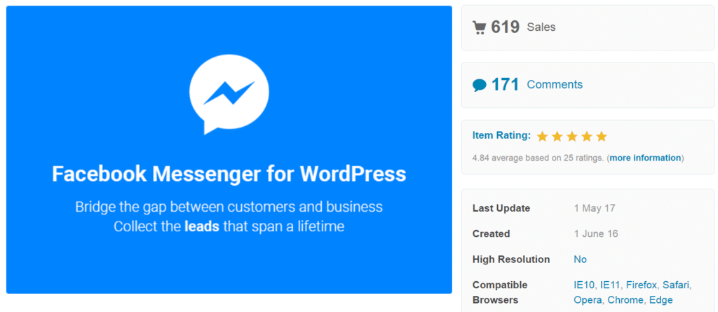 facebook messenger for wordpress plugin