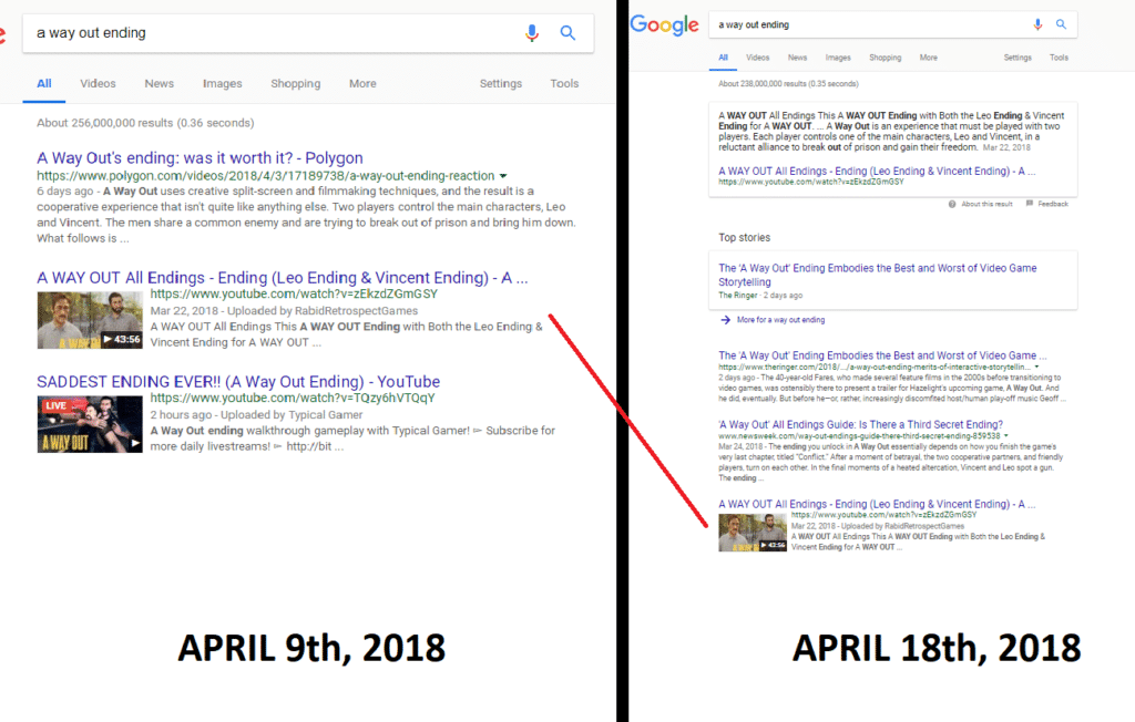 Youtube live and google search results joe youngblood youtube live google results time comparison ccuart Gallery