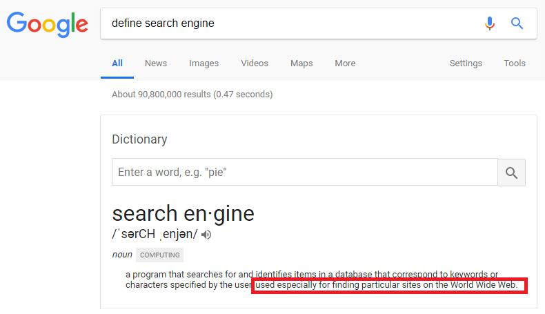 how to create a search engine website like google